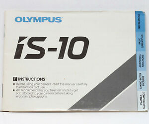 Olympus IS 10 35mm Film Camera Instructions Guide Booklet