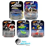 Hot Wheels Premium 2017 Retro Entertainment C Case Set of 5 Cars