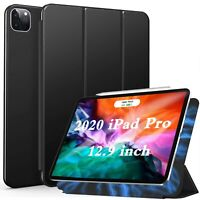 "Apple iPad Pro 12.9"" 2020 Tri-Fold Case Ultra-Slim Smart Cover Pencil Holder"