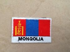 Souvenir cloth patch / badge flag of MONGOLIA