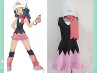 Pokemon Pocket Monsters Dawn Hikari Cosplay Costume