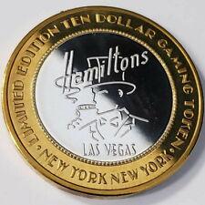 New Listing1997 S New York Ny Hotel Casino .999 Silver Strike $10 Hamiltons Token ^Ny9752