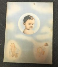 Rm306 Baby Boy Gift Box Maize Color Vintage Nursery Christening Gown Box Only