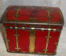 Antique Russian Tea Tin Chest  Red Gold Consolidated Tea Co. New York