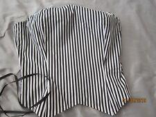 Victorian Black or black striped reversable Corset Bustier ribbon Ladies