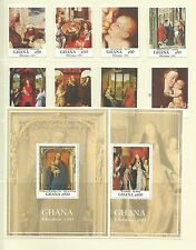 Ghana 1991 Christmas Paintings SG1646-53 + MS1654, Cat.£20+, mnh.