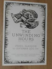 The Unwinding Hours - Glasgow sept.2012 tour concert gig poster