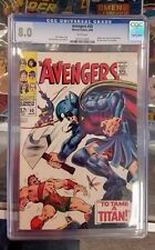 Avengers 50 CGC 8.0 White Pages!  White Cover!