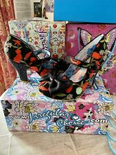 Irregular Choice Fancy This Black & Red With Glitter Size 40 Brand New In Box 🦋