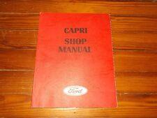 1970 1971 MERCURY CAPRI MODEL INTRODUCTION FACTORY SHOP SERVICE MANUAL COMPLETE
