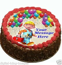 Bob The Builder Cake topper edible image icing Birthday Party REAL FONDANT (587)