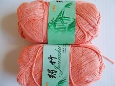 MeiMei Bamboo yarn, light orange, lot of 2