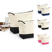 Westford Mill Dipped Base Canvas Accessory Bag (W544) - Make Up Stationery Kit