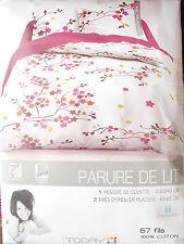 PARURE HOUSSE DE COUETTE 220X240 ET 2 TAIES D'OREILLER 63X63