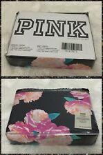 New Victoria's Secret Pink Black Pink Floral Duvet Cover King Size Rare