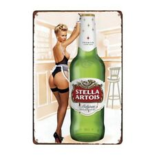 Metal Tin Sign stella artois beer Bar Pub Home Vintage Retro Poster Cafe ART