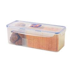 LOCK & LOCK Airtight Rectangular Food Storage Container with Divider, Bread Box