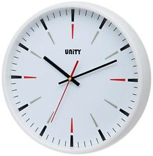 UNITY GIBSON SILENT SWEEP WALL CLOCK IN WHITE