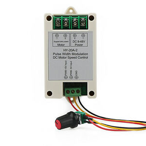 Motor Speed Regulator Pulse Width Modulator DC 12V 24V 20A PWM Controller