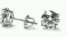 EGL Certificate 8.41ct Brilliant Round Ex Cut Diamond Stud Earrings D Color SI2