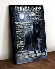 New listing Wolf To My Daughter You Are & Straighten Your Crown Satin Canvas .75in