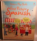 First Picture Spanish by Mairi MacKinnon Usborne Flap Book NEW,FREE INSURED POST