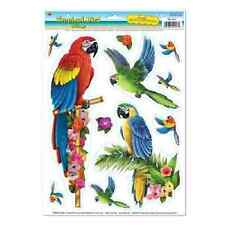 Tropical Bird Clings Luau Decoration