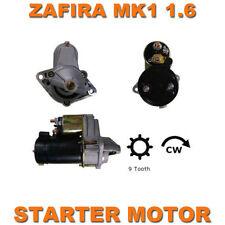 VAUXHALL ZAFIRA MK1 & MK2 1999-2011 1.6 16v TOP QUALITY STARTER MOTOR REMAN