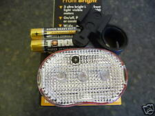 TORCH FRONT LED CYCLE LIGHT WITH BRACKET AND BATTERIES NEW