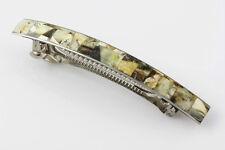UNIQUE Color HQ Barrette with Genuine BALTIC AMBER Mosaic brm120711-7