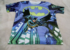 Batman BoysM(8) Tee Shirt Blue With Batman Logo New With Tags 100% Polyester~