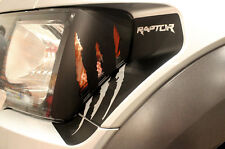 Custom Graphics Vinyl Headlight Decal CLAWS for 2010-2014 F-150 Raptor SVT Black