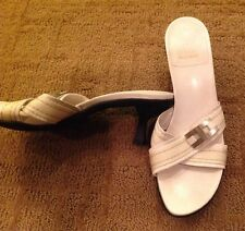 Stuart Weitzman White Crisis Cross Sandals 9M