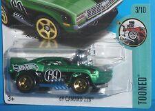 2017 HOT WHEELS Tooned '69 Chevy Camaro Z/28 Green Col. #171/365 1969 HTF