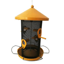 Bird Feeder Metal Yellow Finch Seed Wild Feeders Outdoor Hanging