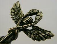 UNUSUAL SOLID SILVER BIRD ROMAN REPLICA CADDY SUGAR SPOON c1920 ANTIQUE