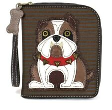 Charming Chala Bull Dog  Puppy Purse Wallet Credit Cards Coins Wristlet