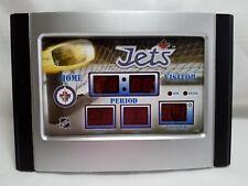 WINNIPEG JETS SCOREBOARD SHAPED DIGITAL ALARM CLOCK - OFFICIAL NHL PRODUCT