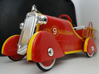 "Mini Fire Engine Truck Pedal Car ""Too Small For A Child Ride On"" Metal Body Red"