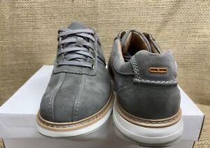 NIB Clarks 36969 Men's Un Ramble Go Dark Grey Nubuck Casual Shoe
