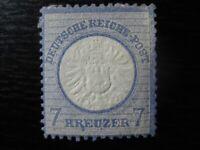 DEUTSCHES REICH Mi. #26 scarce mint Brustschild stamp (w/ dot under R) CV $48.00