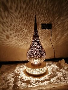 Moroccan night light Table floor lamp Handmade brass decoration Lampshade Fez