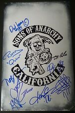 SONS OF ANARCHY Cast(x9) Authentic Hand-Signed 11x17 Photo (Ryan Hurst) PROOF