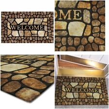 Welcome Door Mat Outdoor Indoor Rug Entrance Carpet Doormat