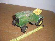 RARE Vintage 1/16 1/18 ? Diecast John Deere Riding Lawn Mower 4 parts or restore
