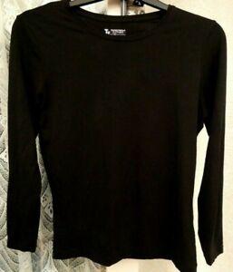 ( Ref 6305 ) TU - Size 16 - Black Long Sleeve Round Neck Top
