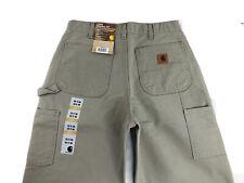 NEW Mens Carhartt Pants B11 DES Duck Canvas Workwear Single Knee Size 32x36 NWT