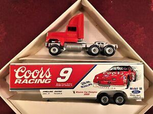 NASCAR BILL ELLIOTT #9 1990 Coors Melling Racing 1/64 Winross Transporter Hauler