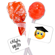 90 Personalized Graduation Lollipop Candy Wrappers Favor Labels Stickers