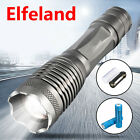 Elfeland 15000LM T6 LED Rechargeable Zoomable Focus Flashlight 18650 Torch Lamp